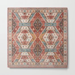 N202 - Boho Traditional North African & Moroccan Oriental Style Metal Print