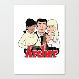 Archer Comics Canvas Print