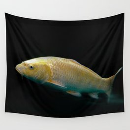 A lucky golden colored carp/Nishikigoi(Japanese Colored Carp) Wall Tapestry