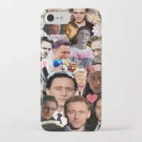 tom hiddleston iPhone & iPod Cases featuring Tom Hiddleston/Loki Collage by chiefmarvelous