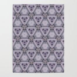 Pale Purple Pyramids Poster