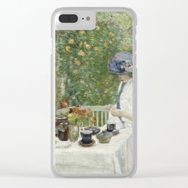Childe Hassam - French Tea Garden Clear iPhone Case