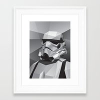 stormtrooper Framed Art Prints featuring Stormtrooper by Filip Peraić