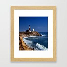 Crispy Morning at Montauk Point Lighthouse Long Island New York Framed Art Print