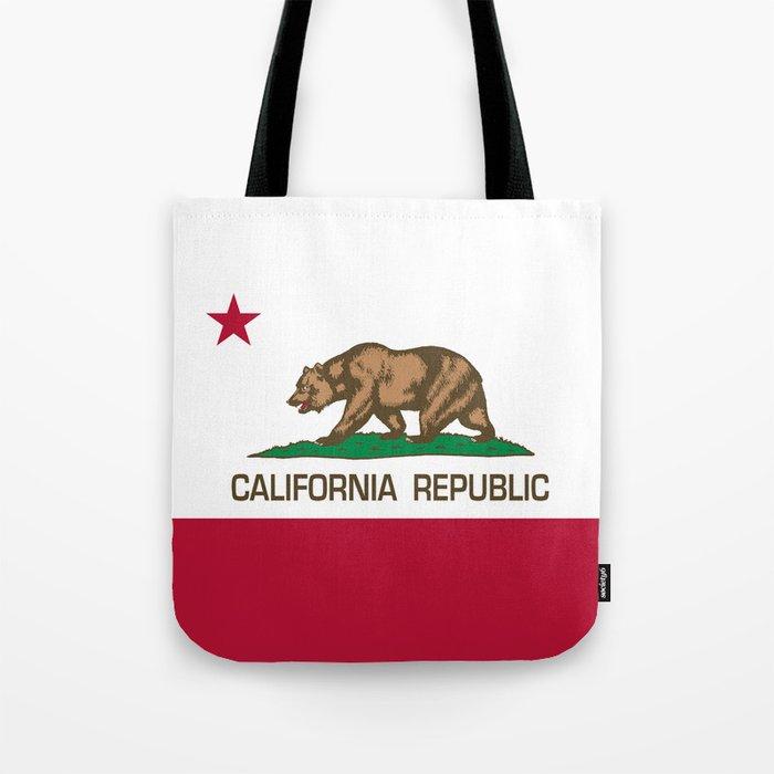 California Republic Flag Bear Tote Bag