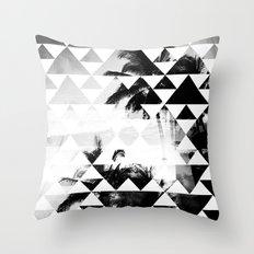 Monochromatic Island Throw Pillow