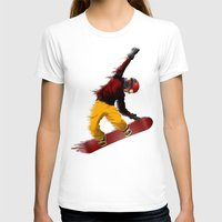snowboarding T-shirts featuring Snowboarding by Boehm Graphics