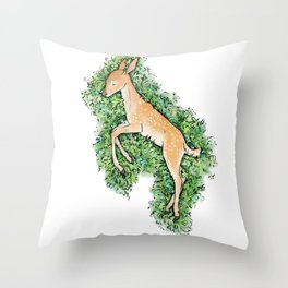 Resting Place - Fawn Throw Pillow