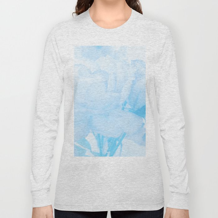 Gentleness #2 - #Soft #Blue #Rose #decor #art #society6 Long Sleeve T-shirt