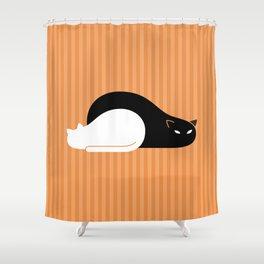 Black Cat, White Cat Shower Curtain