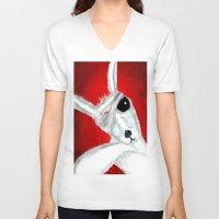 kangaroo V-neck T-shirts featuring Kangaroo by Soso Creation