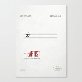 the Artist- movie poster Canvas Print