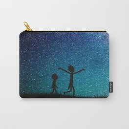 Rick morty galaxy blue Carry-All Pouch