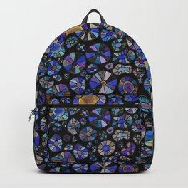 Barca Dots Pattern blue/purple/black Backpack