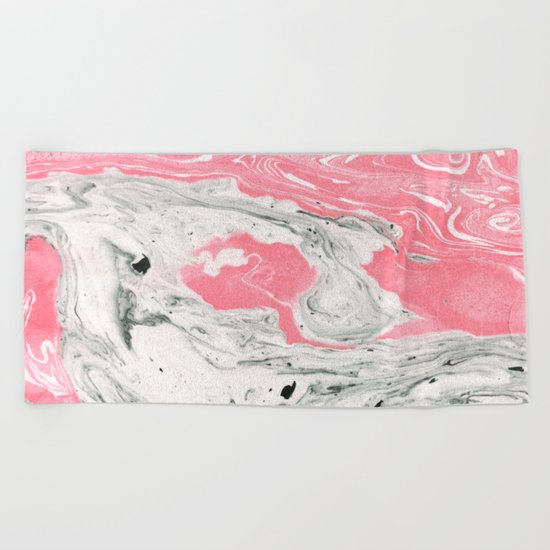 Marble + Bubblegum #society6 #decor #buyart Beach Towel