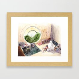 dorm room Framed Art Print