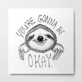 Slothspiration Metal Print