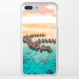 Bora bora Tahiti honeymoon beach resort vacation Clear iPhone Case
