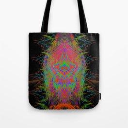 Visionary Flame II (abstract, psychedelic, trippy, psyart, meditation) Tote Bag