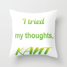 Thoughts Simple Kant Funny Philosophy Gift Throw Pillow