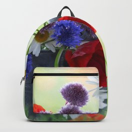 Flower potpourie from the cottage garden Backpack