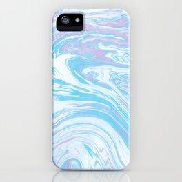 Blue sea marble iPhone Case