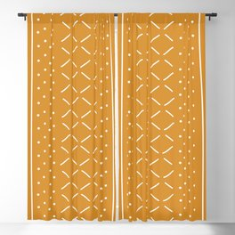 Milenesa Mustard Mud Cloth Blackout Curtain