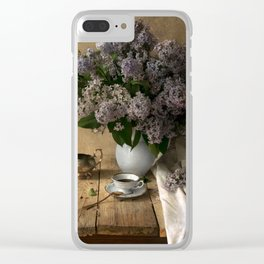 Still life with bouquet of fresh lilacs Clear iPhone Case