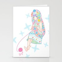 knitting Stationery Cards featuring Knitting  by Moonsia