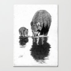 First Fishing Lesson Canvas Print