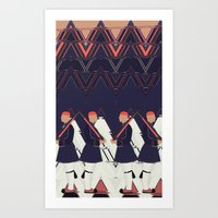 guardians Art Prints featuring Guardians by infloence