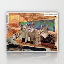 Cats Discuss a Project Laptop & iPad Skin