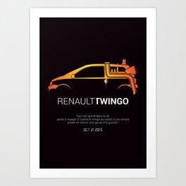 Retour vers le futur - Twingo Art Print