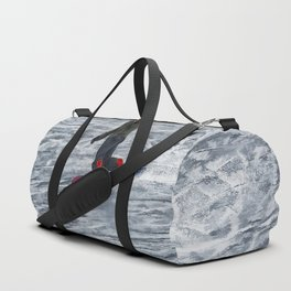 Cutting Corners - Winter Snow-boarder Duffle Bag