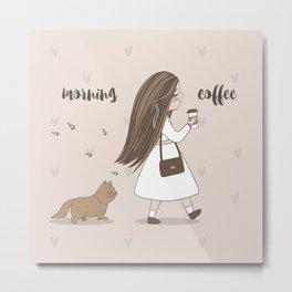 Morning Coffee Metal Print
