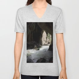 The Way Out of Box Canyon Falls Unisex V-Neck