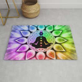 In Meditation With Chakras III Rug