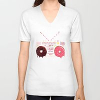 yetiland V-neck T-shirts featuring Sweet Music by Yetiland