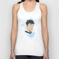 spock Tank Tops featuring Spock by Josh Ln