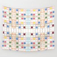 mosaic Wall Tapestries featuring Mosaic by Annie Bukhman