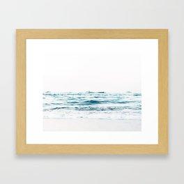 Water, Sea, Ocean, Water, Blue, Nature, Modern art, Art, Minimal, Wall art Framed Art Print