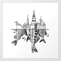 copenhagen Art Prints featuring Copenhagen by CAB Architects
