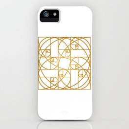 Golden Ropes iPhone Case