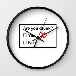 Are You Drunk Wall Clock