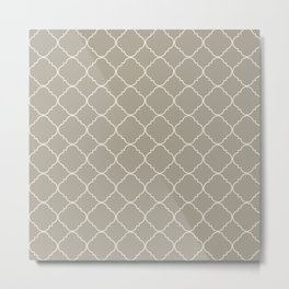Gray Grey Alabaster Moroccan Metal Print