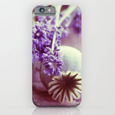 Opium poppy capsule Lavender flower still life iPhone 6s Slim Case