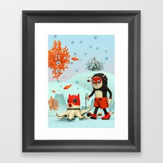 Deeryk and DaPet Framed Art Print