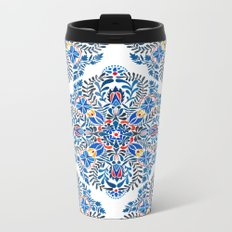 Blue-red mandala Metal Travel Mug