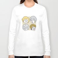 golden girls Long Sleeve T-shirts featuring Thank You for Being a Friend (Golden Girls) by Marcelo Galvao