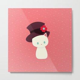 Cat with Hat Metal Print